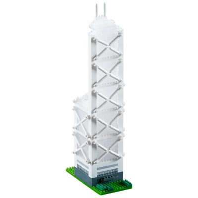 Brixies-58592 Nano 3D Puzzle - Bank of China (Level 5)
