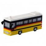 Brixies-58718 Nano 3D Puzzle - Schweizer Postauto (Level 3)