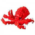 Brixies-58727 3D Nano Puzzle - Großer Oktopus
