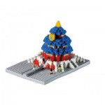 Brixies-58782 Nano 3D Puzzle - Temple of Heaven (Level 3)