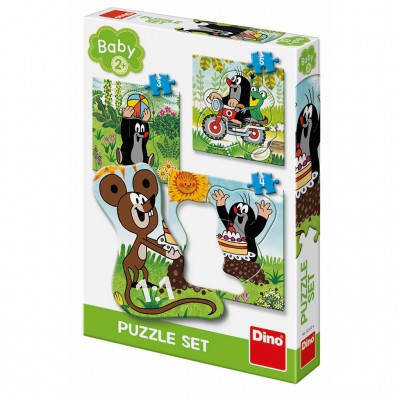 Dino-32510 3 Baby Puzzles - Der Maulwurf