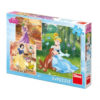 Dino-33528 3 Puzzles - Disney Princess
