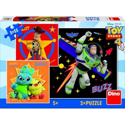 Dino-33532 3 Puzzles - Toy Story 4