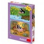 Dino-38155 2 Puzzles - The little Mole