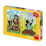 Dino-38160 2 Puzzles - The little Mole