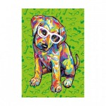 Puzzle  Dino-47220 XXL Teile - Puppy with Glasses