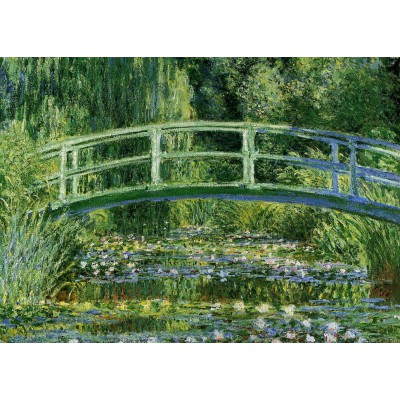 Puzzle Grafika-Kids-00230 Magnetische Teile - Claude Monet: Water Lilies and the Japanese bridge, 1897-1899