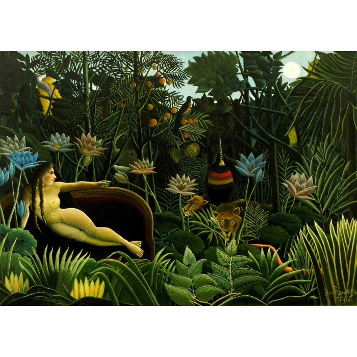 Magnetische Teile - Henri Rousseau: The Dream, 1910