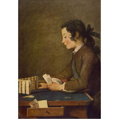 Puzzle Grafika-Kids-00310 Jean Siméon Chardin - The House of Cards, 1737