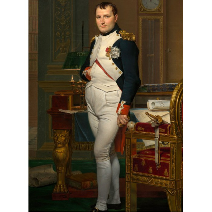 Jacques-Louis David: The Emperor Napoleon in his study at the Tuileries, 1812