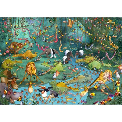 Puzzle Grafika-Kids-00805 Magnetische Teile - François Ruyer: Jungle