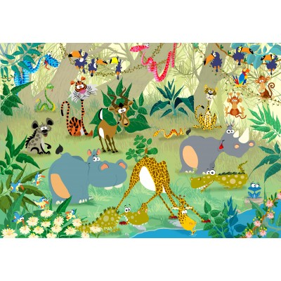 Puzzle Grafika-Kids-00872 François Ruyer: Jungle