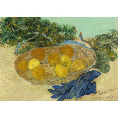 Puzzle Grafika-Kids-01001 Magnetische Teile - Vincent Van Gogh - Still Life of Oranges and Lemons with Blue Gloves, 1889