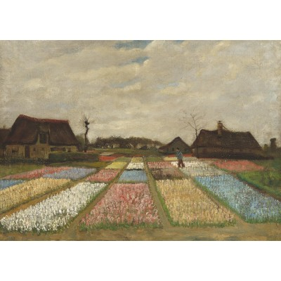 Puzzle Grafika-Kids-01006 Vincent Van Gogh - Flower Beds in Holland, 1883