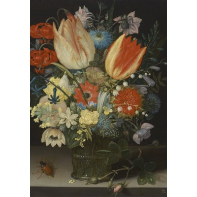 Puzzle Grafika-Kids-01078 Peter Binoit: Still Life with Tulips, 1623