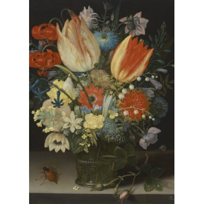 Puzzle Grafika-Kids-01080 Peter Binoit: Still Life with Tulips, 1623