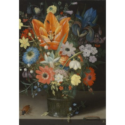 Puzzle Grafika-Kids-01082 Peter Binoit: Still Life with Iris, 1623