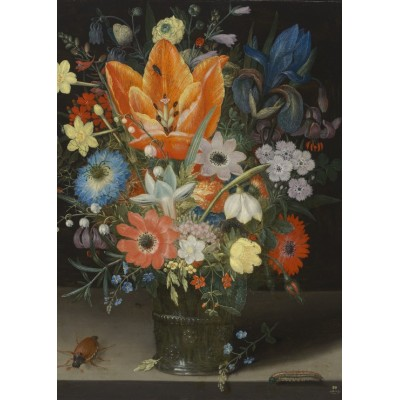 Puzzle Grafika-Kids-01084 Peter Binoit: Still Life with Iris, 1623