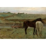 Puzzle  Grafika-Kids-01279 Edgar Degas: Horses in a Meadow, 1871
