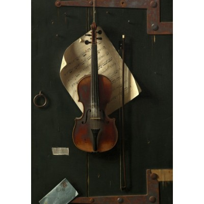 Puzzle Grafika-Kids-01280 William Michael Harnett: The Old Violin, 1886