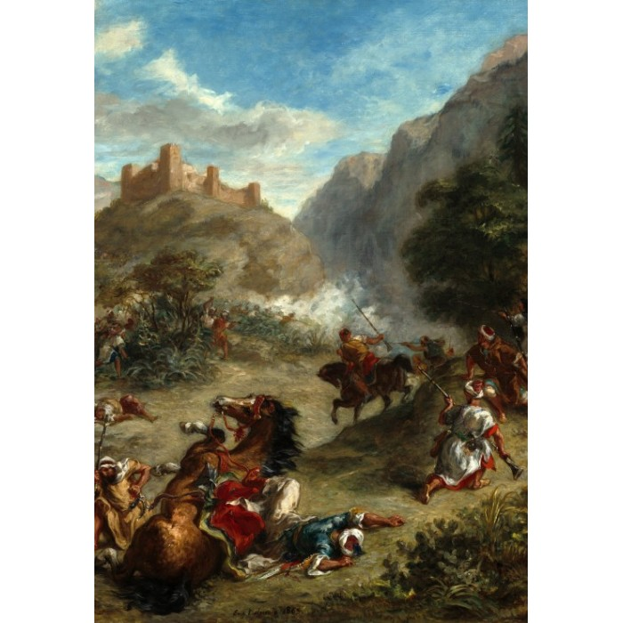 Eugène Delacroix: Arabs Skirmishing in the Mountains, 1863
