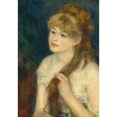 Puzzle Grafika-Kids-01327 Auguste Renoir: Young Woman Braiding Her Hair, 1876