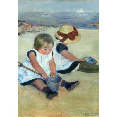 Puzzle Grafika-Kids-01342 Mary Cassatt: Children Playing on the Beach, 1884