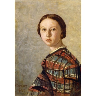 Puzzle Grafika-Kids-01356 Jean-Baptiste-Camille Corot: Portrait of a Young Girl, 1859