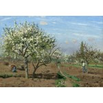 Puzzle  Grafika-Kids-01373 Camille Pissarro : Orchard in Bloom, Louveciennes, 1872