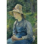 Puzzle  Grafika-Kids-01374 Camille Pissarro: Peasant Girl with a Straw Hat, 1881