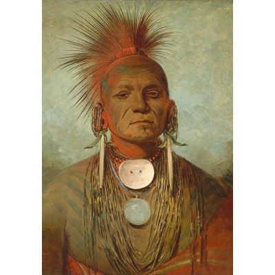 Puzzle Grafika-Kids-01494 George Catlin: See-non-ty-a, an Iowa Medicine Man, 1844-1845