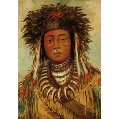Puzzle Grafika-Kids-01498 George Catlin: Boy Chief - Ojibbeway, 1843