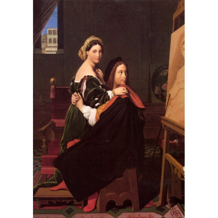Jean-Auguste-Dominique Ingres: Raphaël and the Fornarina, 1814