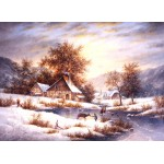 Puzzle  Grafika-Kids-01855 Dennis Lewan - Amber Sky Of Winter