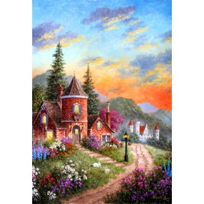 Puzzle Grafika-Kids-01904 XXL Teile - Dennis Lewan - Castle Ridge Manor