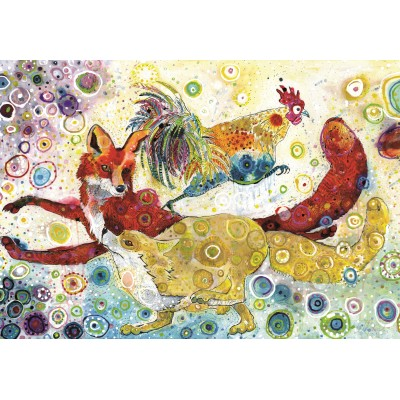 Puzzle Grafika-Kids-02064 Sally Rich - Leaping Fox's