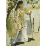 Puzzle   Auguste Renoir: Woman by a Fence, 1866