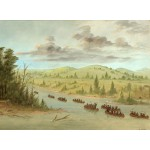 Puzzle   George Catlin: La Salle's Party Entering the Mississippi in Canoes. February 6, 1682, 1847-1848