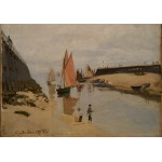 Puzzle  Grafika-00037 Claude Monet: Le Port de Trouville, 1870