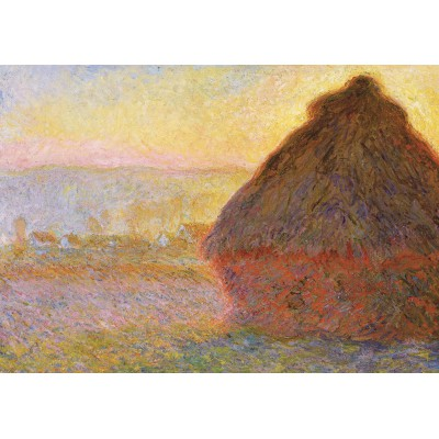 Puzzle Grafika-00043 Claude Monet: Meules, Soleil Couchant, 1891