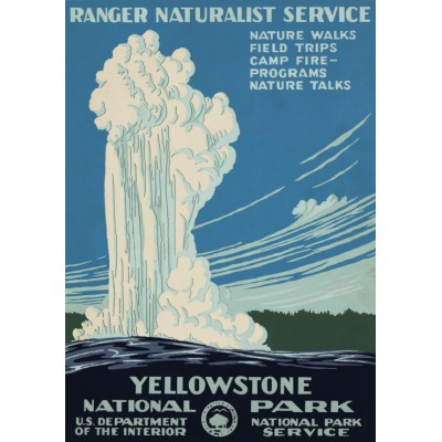 Puzzle Grafika-00097 Yellowstone, USA, 1938