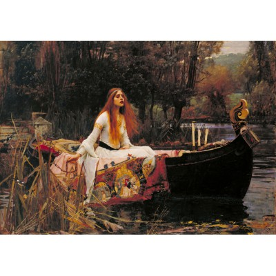 Puzzle Grafika-00157 Waterhouse John William: The Lady of Shalott, 1888