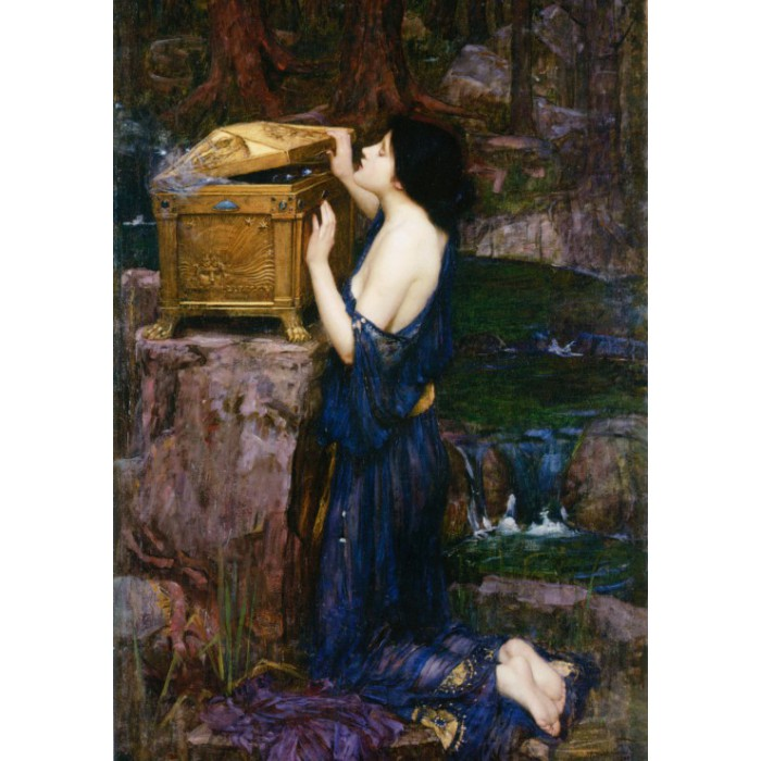 Waterhouse John William: Pandora, 1896