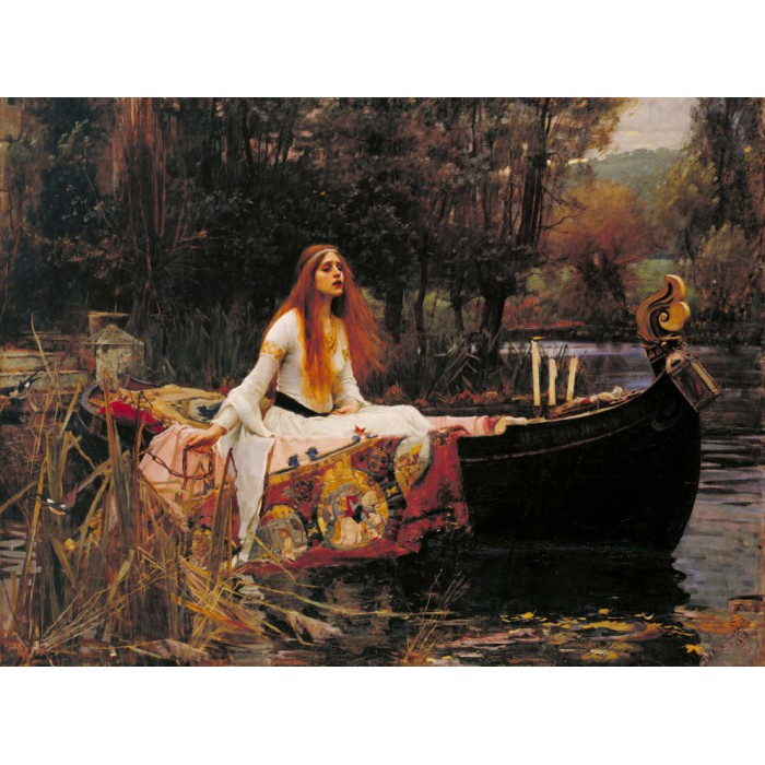Waterhouse John William: The Lady of Shalott, 1888