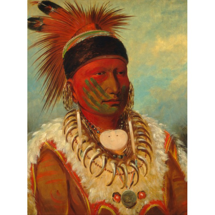 George Catlin: The White Cloud, Head Chief of the Iowas, 1844-1845