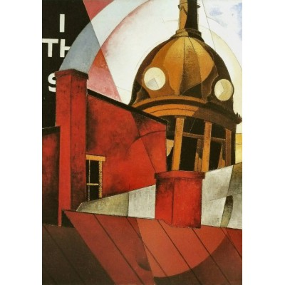 Puzzle Grafika-00250 Charles Demuth: Welcome to Our City, 1921