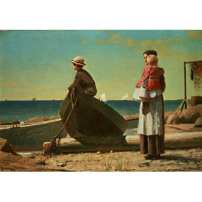 Puzzle Grafika-00252 Winslow Homer: Dad's Coming!, 1873