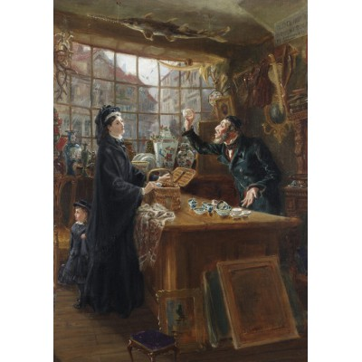 Puzzle Grafika-00333 Ralph Hedley: The Old China Shop, 1877