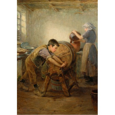 Puzzle Grafika-00334 Ralph Hedley: The Butter Churn, 1897