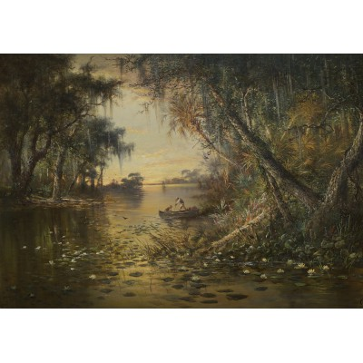 Puzzle Grafika-00378 Charles Christian Eisele: Evening on the Suwannee River, 1885